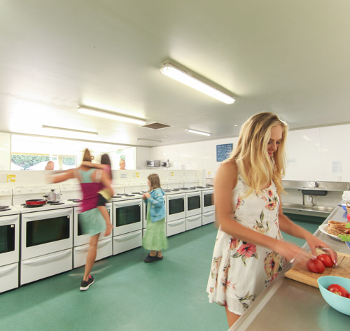 Value accommodation with kitchen at KiwiCorral Country Backpackers NZ